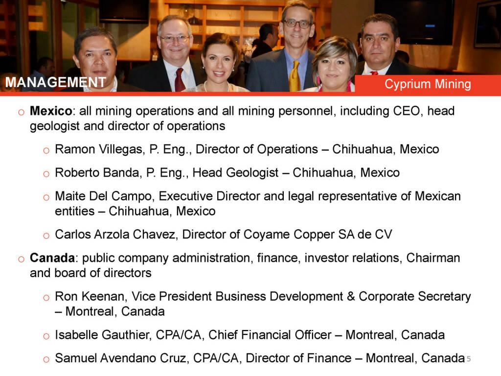 Management Mexico, Canada (26.04.2015)