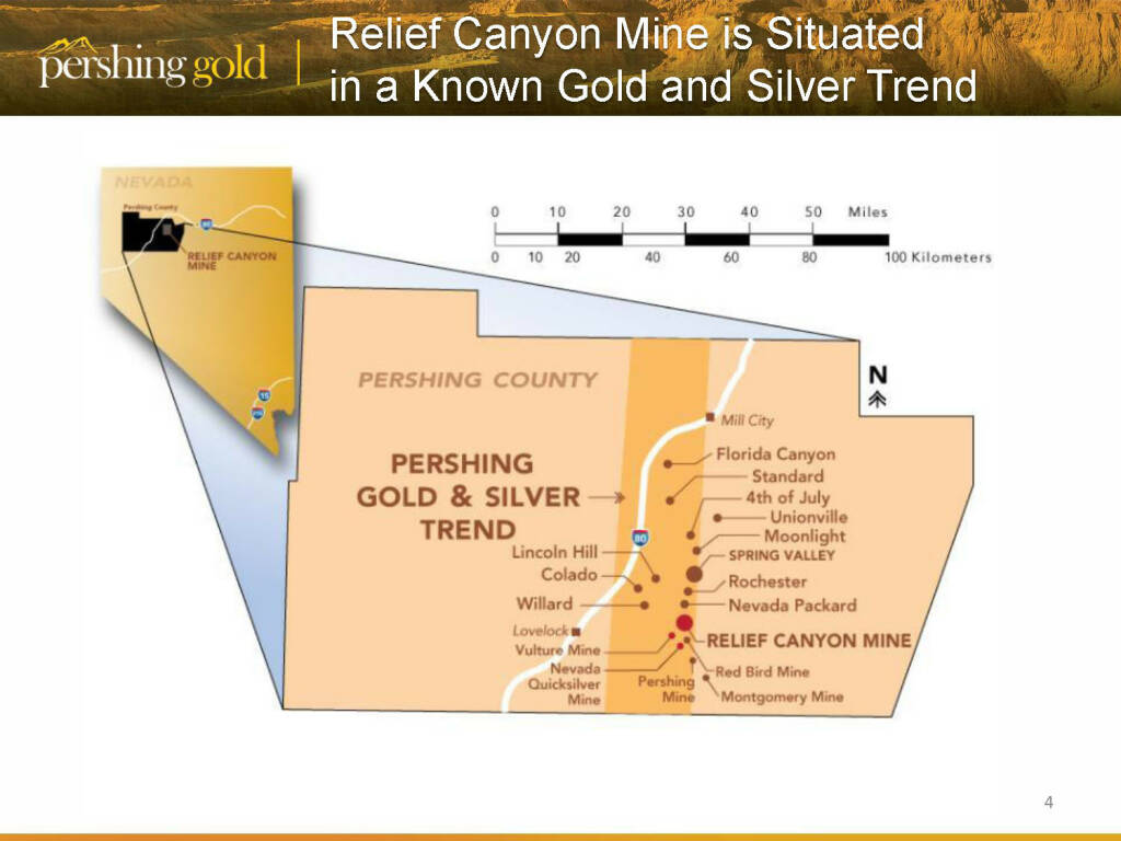 Relief Canyon Mine is Situated in a Known Gold and Silver Trend - Pershing Gold (26.04.2015)