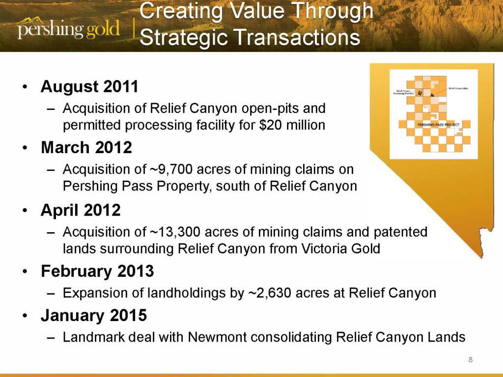 Creating value through strategic transactions - Pershing Gold (26.04.2015)