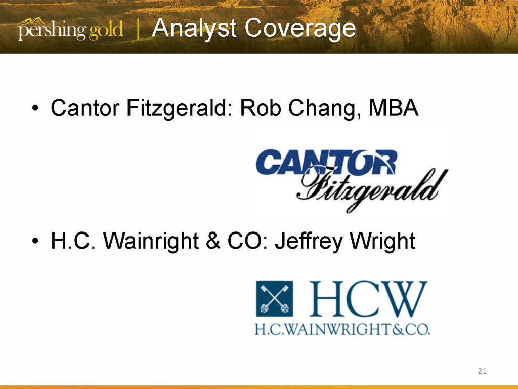 Analyst coverage - Pershing Gold (26.04.2015)