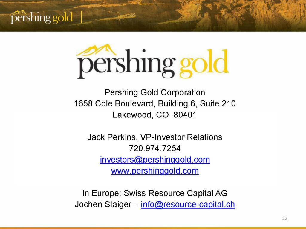 Contact - Pershing Gold (26.04.2015)