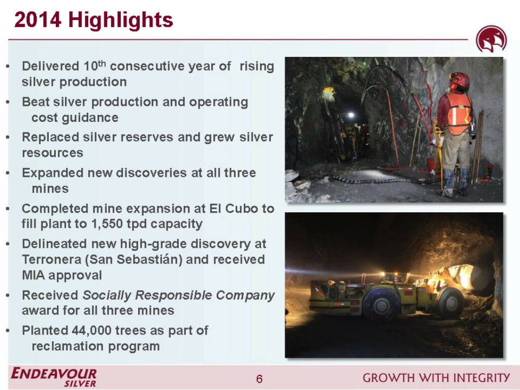 2014 Highlights - Endeavour Silver (26.04.2015)
