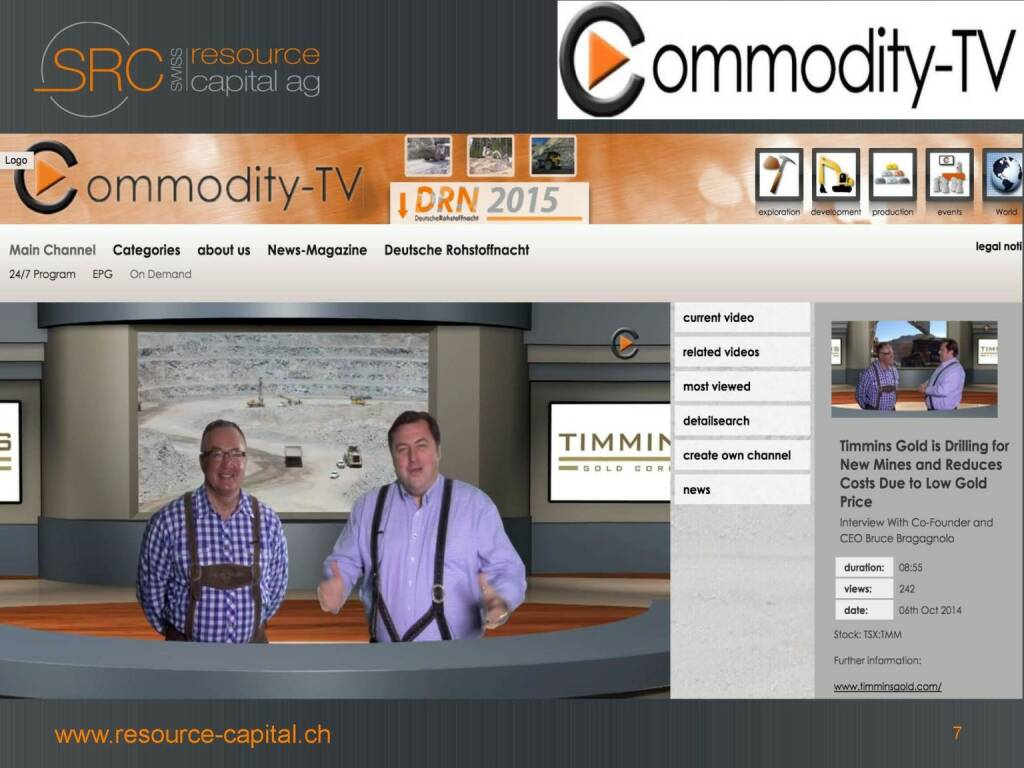 Commodity-TV - Swiss Resource Capital) (26.04.2015)