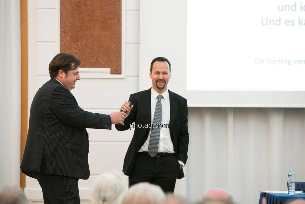 Jochen Staiger (Swiss Resource Capital), Joe Brunner (Portfolio Invest Anlageberatung), © photaq/Martina Draper (27.04.2015)