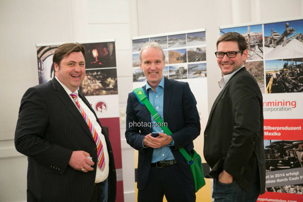 Jochen Staiger (Swiss Resource Capital), Christian Drastil (FC Chladek Drastil/Börse Social Network), © photaq/Martina Draper (27.04.2015)