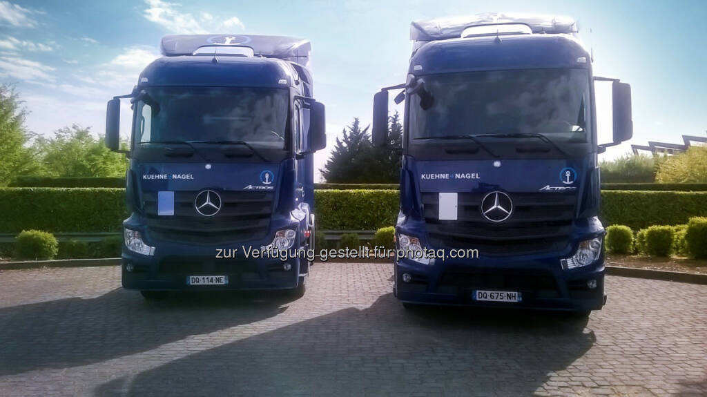 Großauftrag für Mercedes-Benz Lkw: Kühne + Nagel bestellt rund 240 Mercedes-Benz Lkw, © Aussendung (28.04.2015)