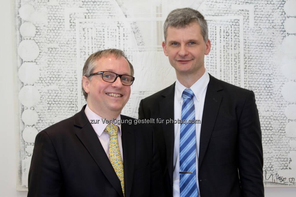 Der Salzburger Universitätsprofessor Christoph Urtz und der ehemalige Oberstaatsanwalt Georg Krakow wurden zu Partnern bei Baker & McKenzie in Wien ernannt. , © Aussender (28.04.2015)