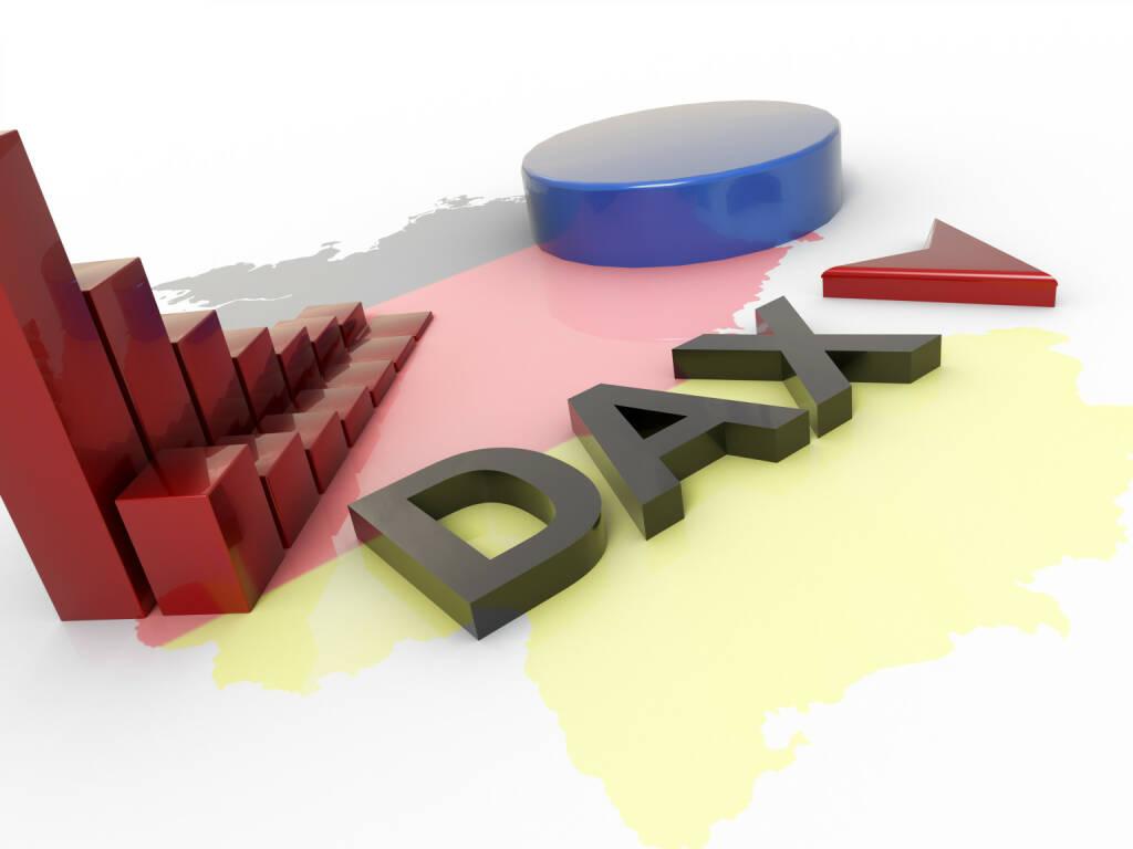 DAX, fallend, rot, http://www.shutterstock.com/de/pic-246823129/stock-photo-dax-recession-d-concept.html, © www.shutterstock.com (30.04.2015)