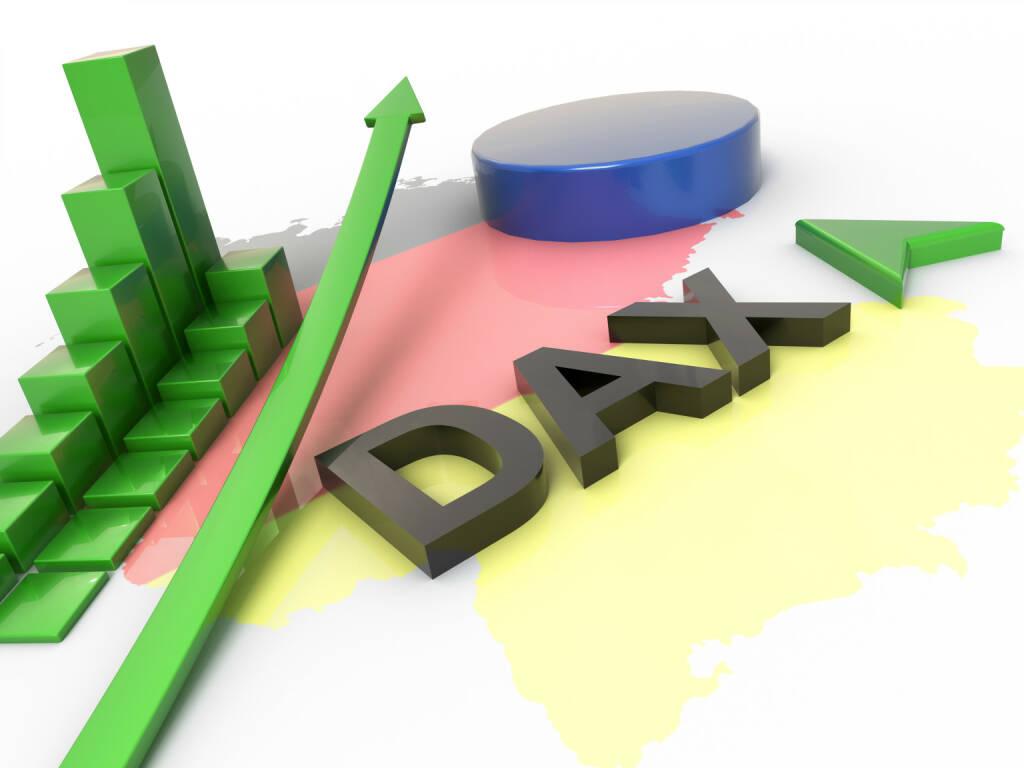DAX, steigend, grün, http://www.shutterstock.com/de/pic-246823132/stock-photo-dax-reflation-d-concept.html, © www.shutterstock.com (30.04.2015)