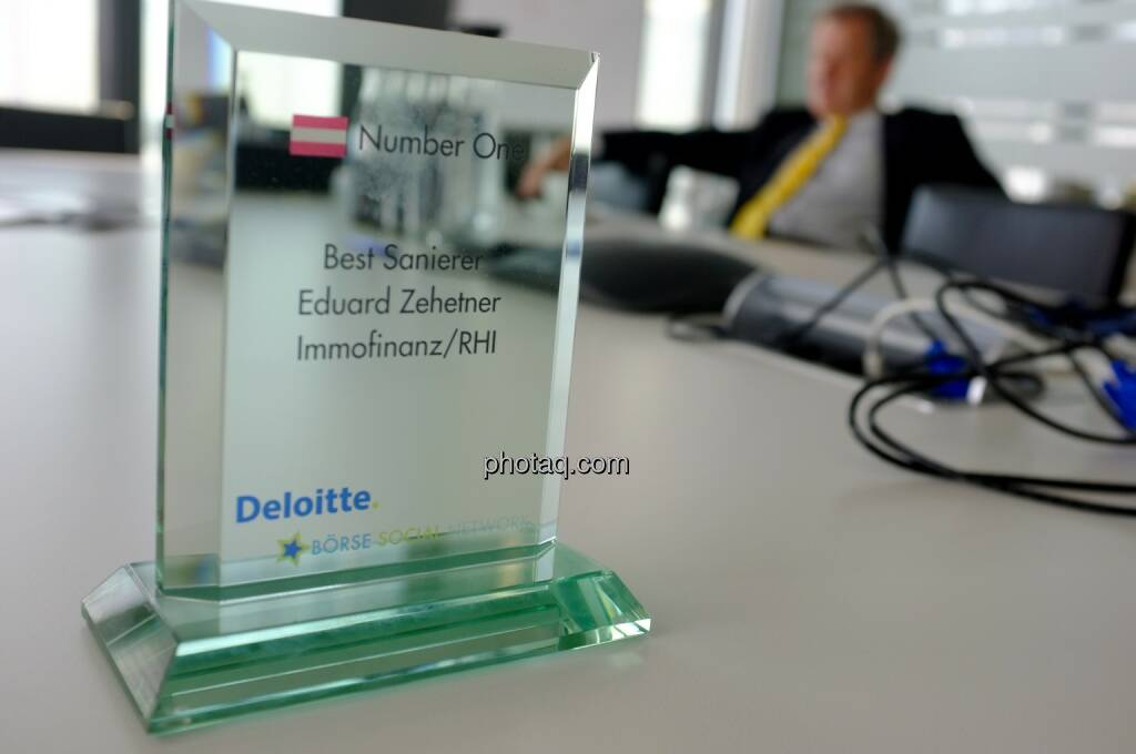 Number One Award: Best Sanierer - Eduard Zehetner Immofinanz/RHI , © Börse Social Network/photaq.com (30.04.2015)
