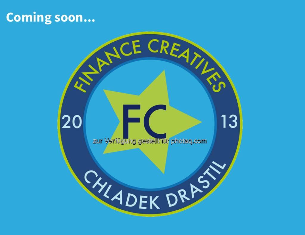 Das Logo der FC Chladek Drastil GmbH, des künftigen Betreibers von finanzmarktfoto.at, die Website ist coming soon. Logo created by Nina Chladek-Danklmaier (24.02.2013)