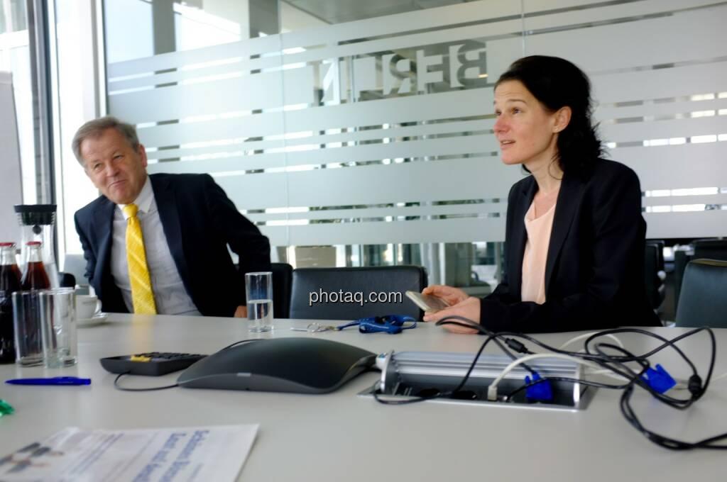 Eduard Zehetner (Immofinanz), Bettina Schragl (Immofinanz), © Börse Social Network/photaq.com (30.04.2015)