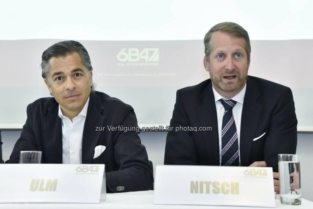 Peter Ulm, Vorsitzender des Vorstands und Sebastian Nitsch, Vorstand: 6B47 Real Estate Investors AG: 6B47 realisiert in Frankfurt Wohnungsverkäufe mit einem Transaktionsvolumen von rund 165 Millionen Euro., © Aussendung (30.04.2015)