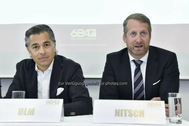 Peter Ulm, Vorsitzender des Vorstands und Sebastian Nitsch, Vorstand: 6B47 Real Estate Investors AG: 6B47 realisiert in Frankfurt Wohnungsverkäufe mit einem Transaktionsvolumen von rund 165 Millionen Euro.