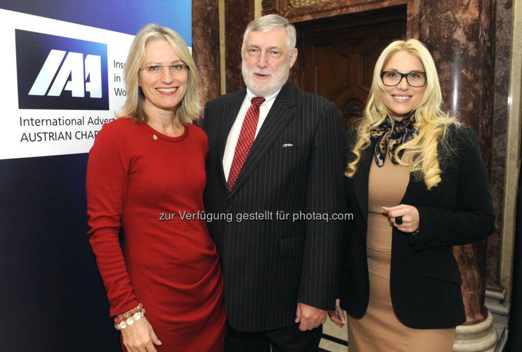 Martina Hörmer, Franz Fischler, Christina Weidinger beim IAA Business Communication Lunch, mit Franz Fischler und Christina Weidinger (c) ORF/Thomas Jantzen (25.02.2013)