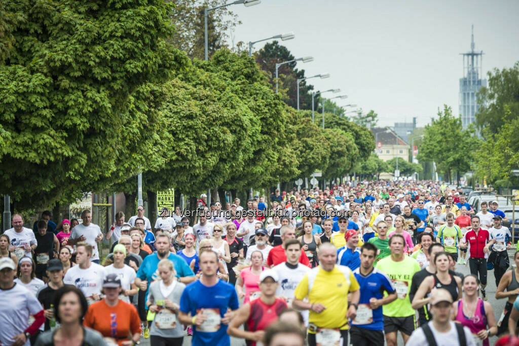 Event participants run during the Wings for Life World Run in St. Poelten, Austria on May 3rd, 2015. // Philip Platzer for Wings for Life World Run //Please go to www.redbullcontentpool.com for further information. // , © © Red Bull Media House (04.05.2015)