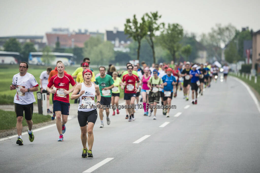 Event participants run during the Wings for Life World Run in St. Poelten, Austria on May 3rd, 2015. // Philip Platzer for Wings for Life World Run // Please go to www.redbullcontentpool.com for further information. // , © © Red Bull Media House (04.05.2015)