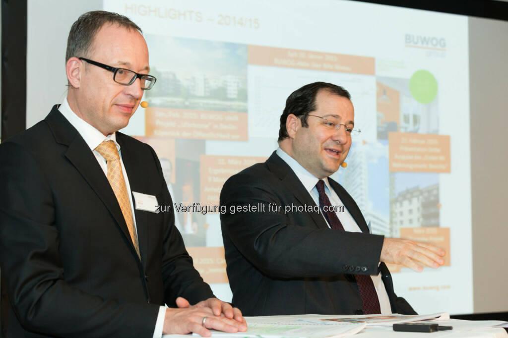 Ronald Roos (CFO Buwog), Daniel Riedl (CEO Buwog), © Buwog (06.05.2015)