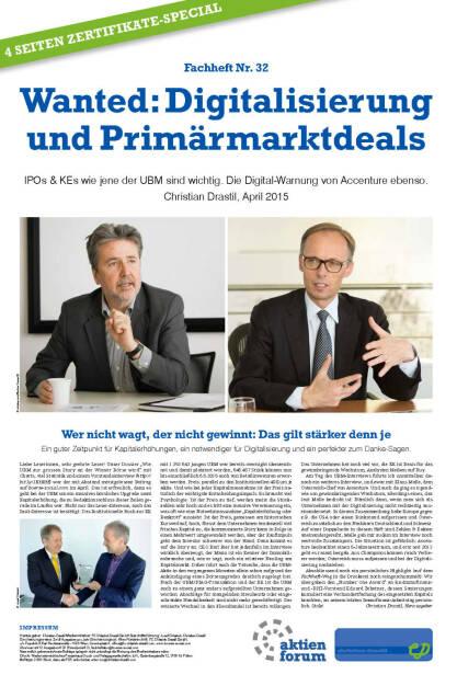 Fachheft 32 - Wanted: Digitalisierung und Primärmarktdeals (06.05.2015)
