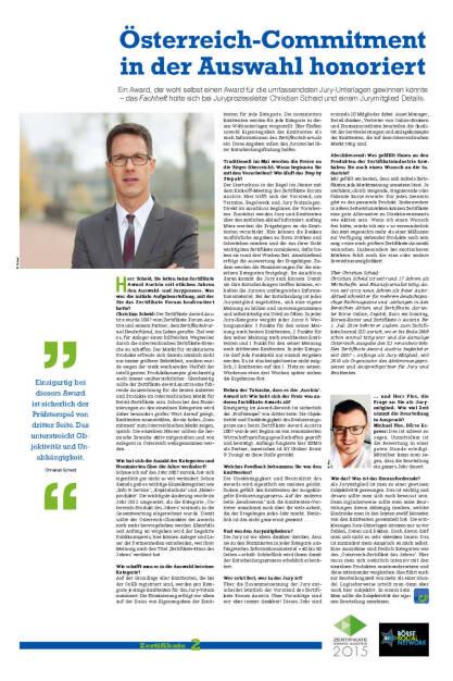 Fachheft 32 - Österreich-Commitment in der Auswahl honoriert (06.05.2015)