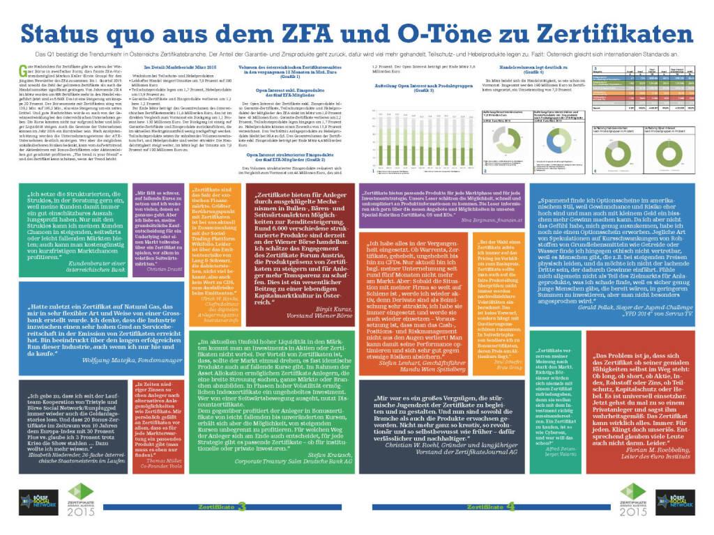 Fachheft 32 - Status quo aus dem ZFA und O-Töne zu Zertifikaten (06.05.2015)