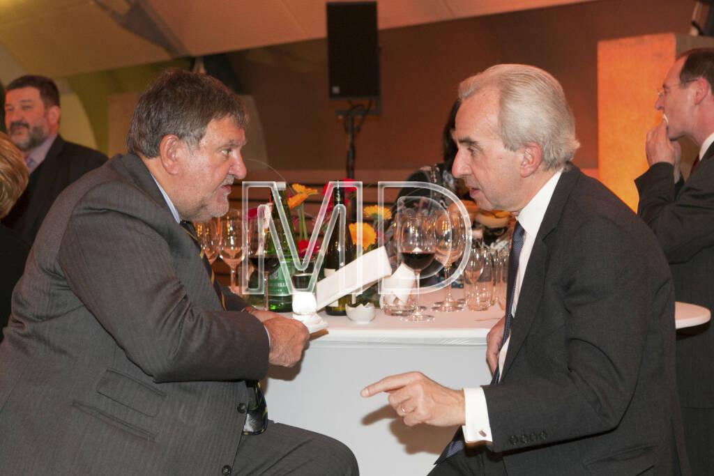 Herbert Stepic (Raiffeisen Bank International), Rudolf Scholten (Aufsichtsratsvorsitzender Prisma Kreditversicherungs AG), © Martina Draper (25.02.2013)