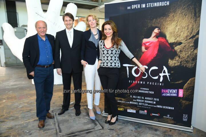 Robert Dornhelm, Michael Güttler, Maren Hofmeister, Amra Bergman: Arenaria GmbH: Vorbereitungen für Tosca-Premiere am 8. Juli in vollem Gange