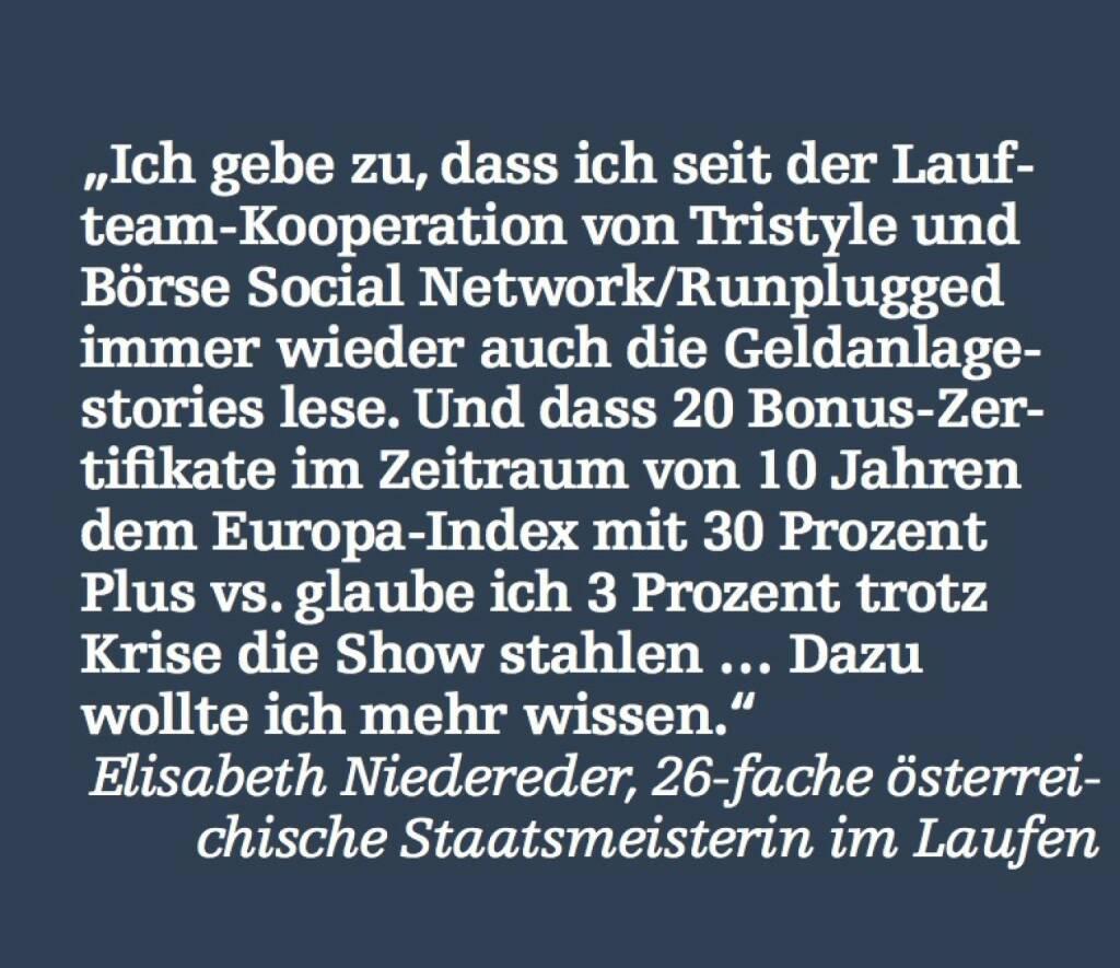 Elisabeth Niedereder, 26-fache österreichische Staatsmeisterin im Laufen (07.05.2015)
