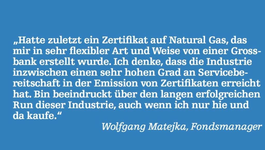 Wolfgang Matejka, Fondsmanager (07.05.2015)