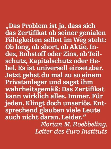 Florian M. Roebbeling, Leiter des €uro Instituts (07.05.2015)