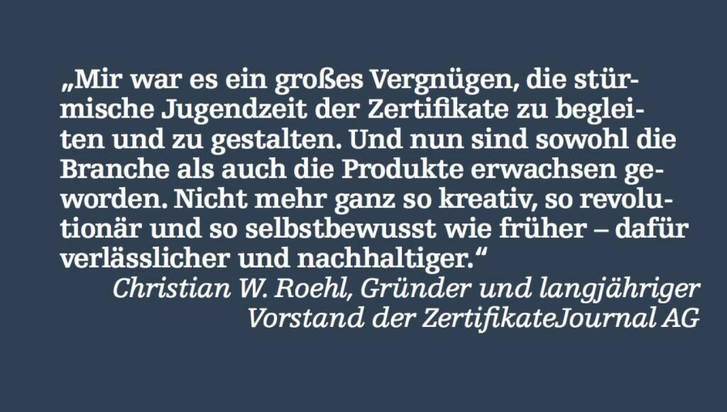 Christian W. Roehl, Vorstand der ZertifikateJournal AG (07.05.2015)