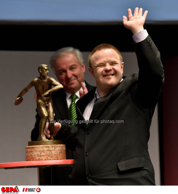 Special Olympics Sportsman of the year Wolfgang Troger (Tennis) Photo: Gepa pictures/ Michael Riedler, © Gepa (08.05.2015)
