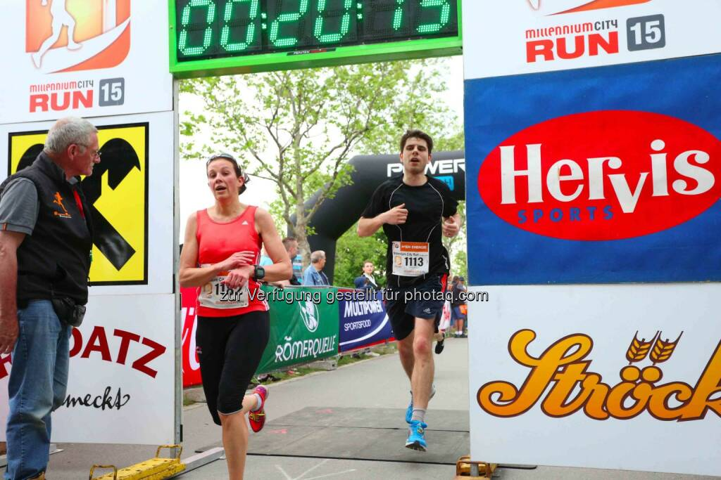 Yvonne Raffeiner, 3. Platz Millennium City Run 2015 über die 5km Distanz, © leisure.at/Ludwig Schedl (10.05.2015)