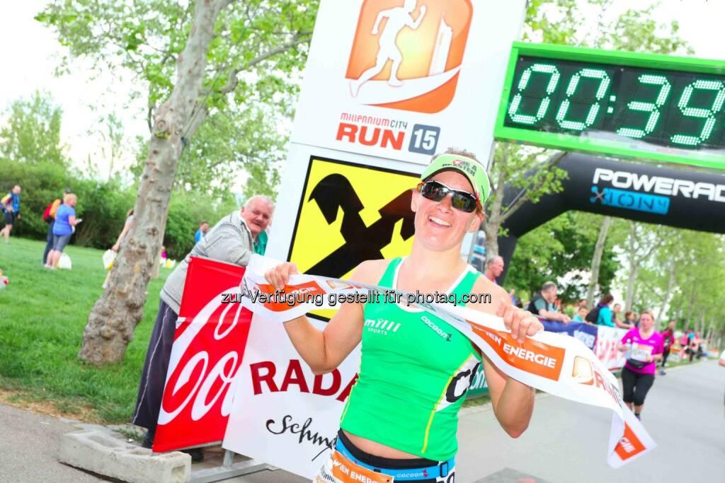 Kamila Polak, Siegerin Damen Millennium City Run 2015 über die 10km Distanz, © leisure.at/Ludwig Schedl (10.05.2015)