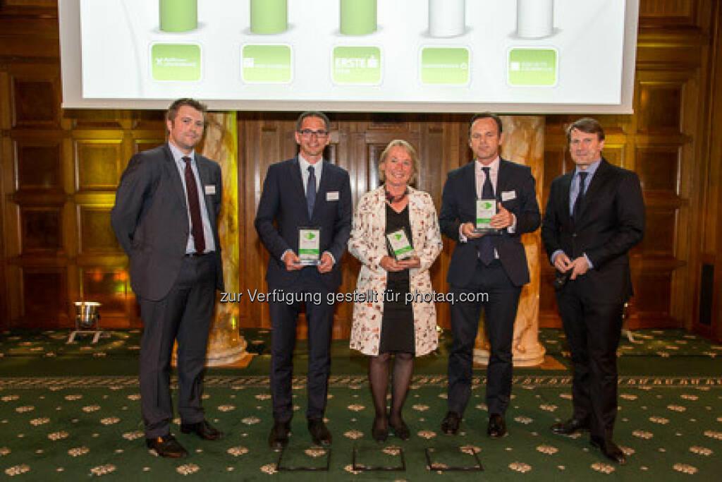 Zertifikate Award 2015 - Alexander Irza, Heike Arbter, Volker Meinel, Lars Brandau, © ViennaShots - professional photographers, Andreas Pecka (11.05.2015)