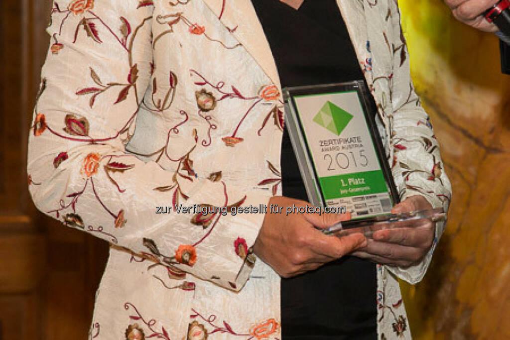 Zertifikate Award 2015 - Heike Arbter 1. Platz, © ViennaShots - professional photographers, Andreas Pecka (11.05.2015)