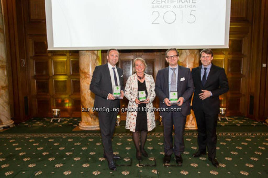 Zertifikate Award 2015 - Frank Weingarts, Heike Arbter, Markus Kaller, Lars Brandau, © ViennaShots - professional photographers, Andreas Pecka (11.05.2015)