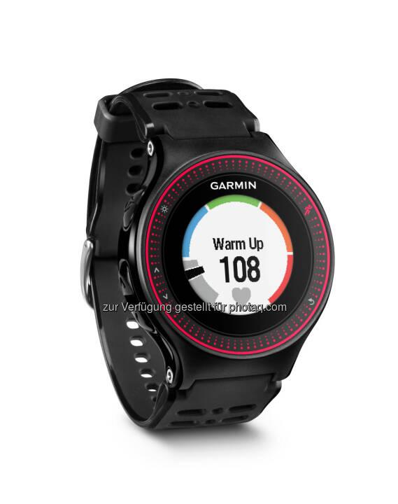 Garmin Austria GmbH: Der Puls ohne Gurt – neue Laufuhr von Garmin. Mit dem Forerunner® 225 bringt Garmin seine erste GPS-Laufuhr mit Pulsmessung direkt am Handgelenk. Farb-Display, Activity Tracker und Beschleunigungssensor ergänzen das ganze.