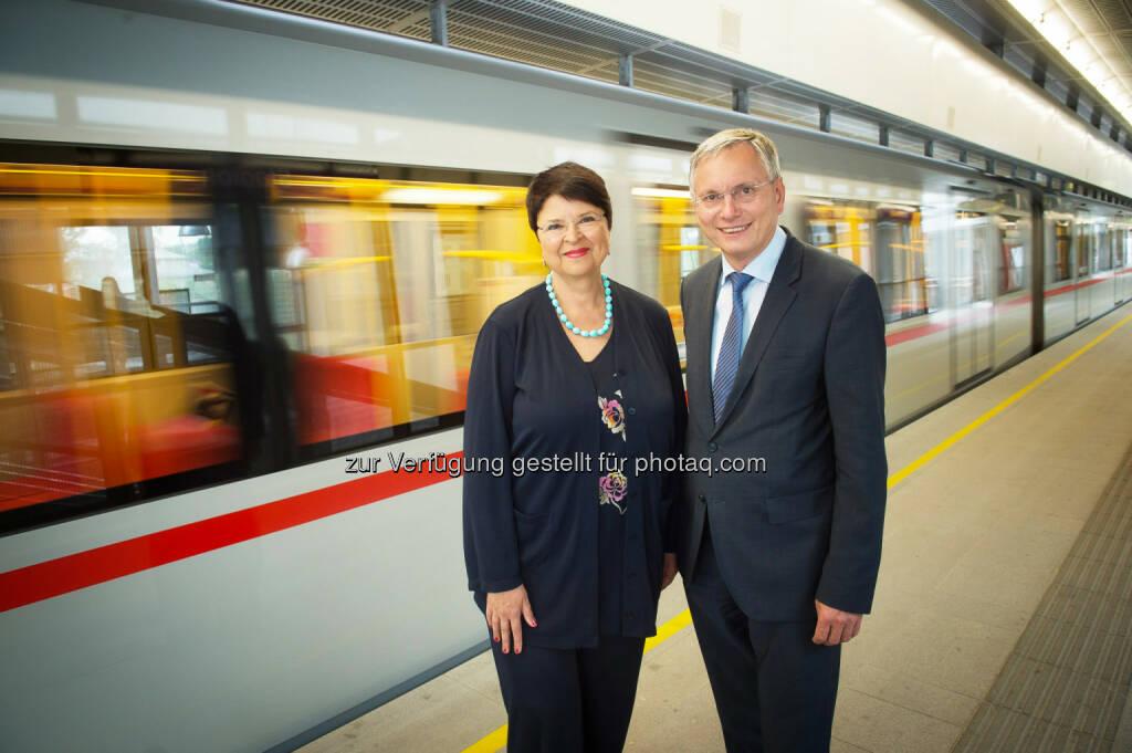 Renate Brauner, Alois Stöge: rPID Presse- und Informationsdienst der Stadt Wien: U2/U5-Ausbau fixiert, © Aussendung (14.05.2015)