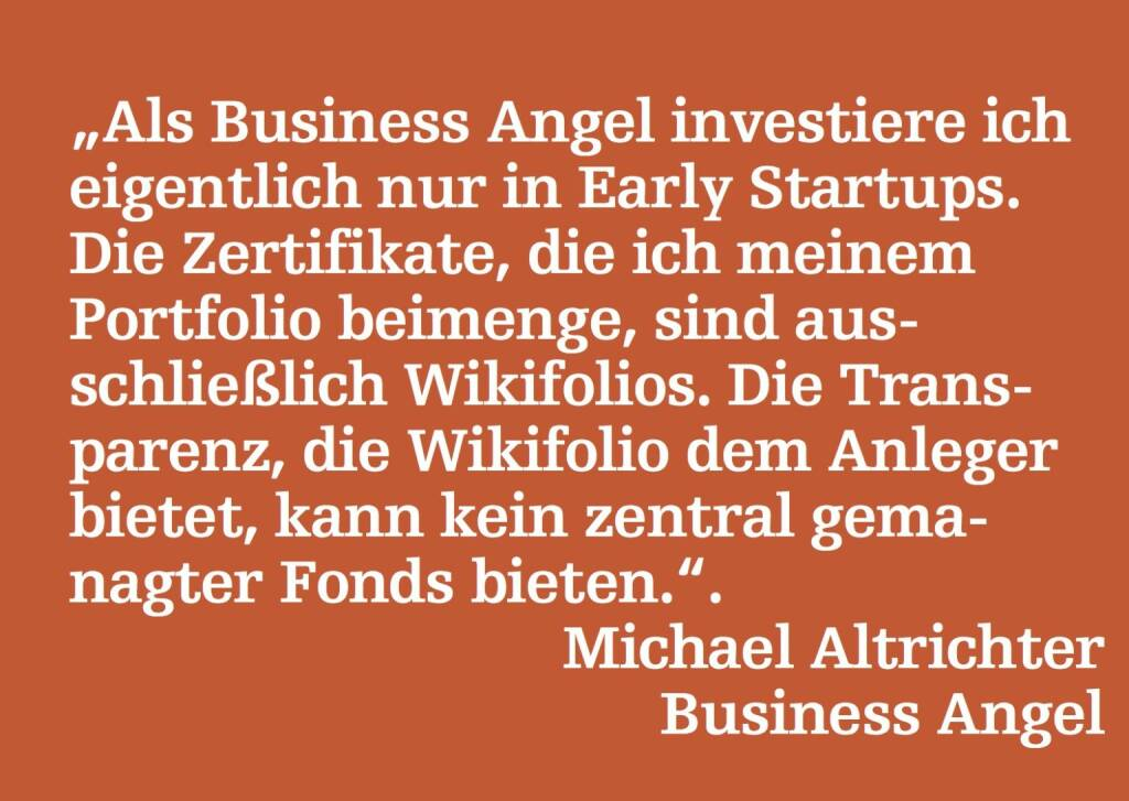 Michael Altrichter, Business Angel (18.05.2015)