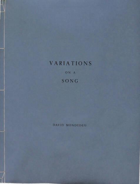 David Mondedeu - Variations on a Song, Self published 2015, Cover - http://josefchladek.com/article/david_mondedeu_-_variations_on_a_song, © (c) josefchladek.com (19.05.2015)