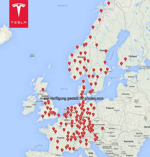 Supercharger Status: now 153 Supercharger Stations in Europe.   Did you know…. Over the last year the network has grown by 10x, from 14 stations in April 2014 to over 140 stations in April 2015.  Source: http://facebook.com/teslamotors, © Aussender (24.05.2015)