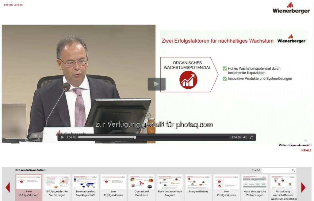 Wienerberger-HV schauen via APA OTS http://webtv.braintrust.at/wienerberger/2015-05-22/, © Aussender (26.05.2015)
