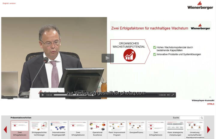 Wienerberger-HV schauen via APA OTS http://webtv.braintrust.at/wienerberger/2015-05-22/