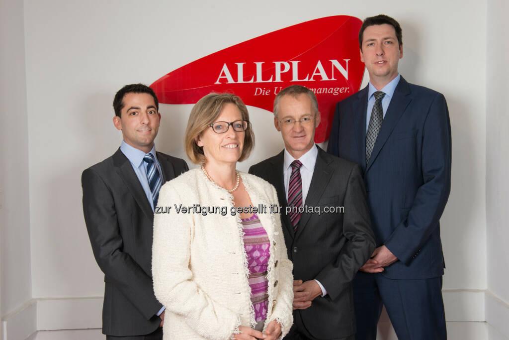 Georg Brandauer, Susanne Schindler, Karl Spreitzhofer und Helmut Berger, Allplan GmbH: Viererspitze behält Führung, © Aussender (27.05.2015)