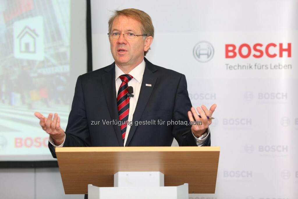 Klaus Peter Fouquet (Bosch Österreich CEO): Robert Bosch AG: Bosch baut Aktivitäten in Österreich weiter aus, © Aussender (27.05.2015)