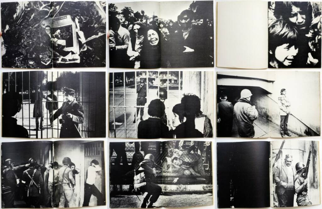 Koen Wessing - Chili September 1973, De Bezige Bij 1973, Beispielseiten, sample spreads - http://josefchladek.com/book/koen_wessing_-_chili_september_1973, © (c) josefchladek.com (28.05.2015)
