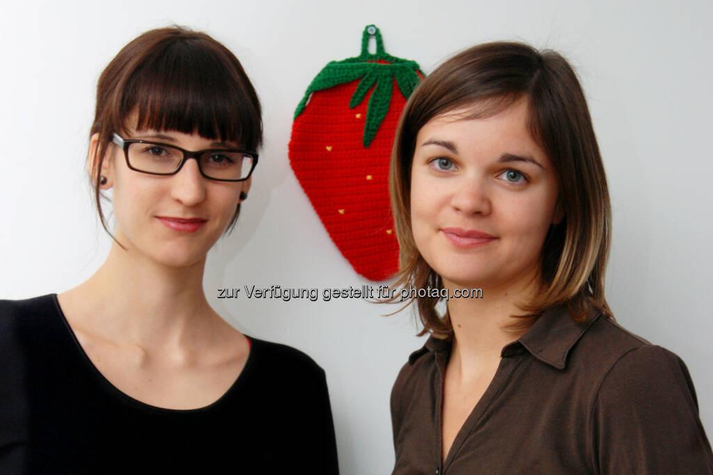 die beiden erdbeerwoche-Gründerinnen Bettina Steinbrugger und Annemarie Harant: erdbeerwoche GesbR: Nachhaltige Frauenhygiene auf dem Vormarsch, © Aussender (28.05.2015)