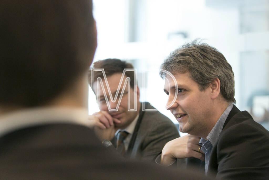Martin Theyer (Director Strategy & IR/PR AT&S), Michael Trcka (CFO WEB Windenergie), © Martina Draper für BE (01.03.2013)