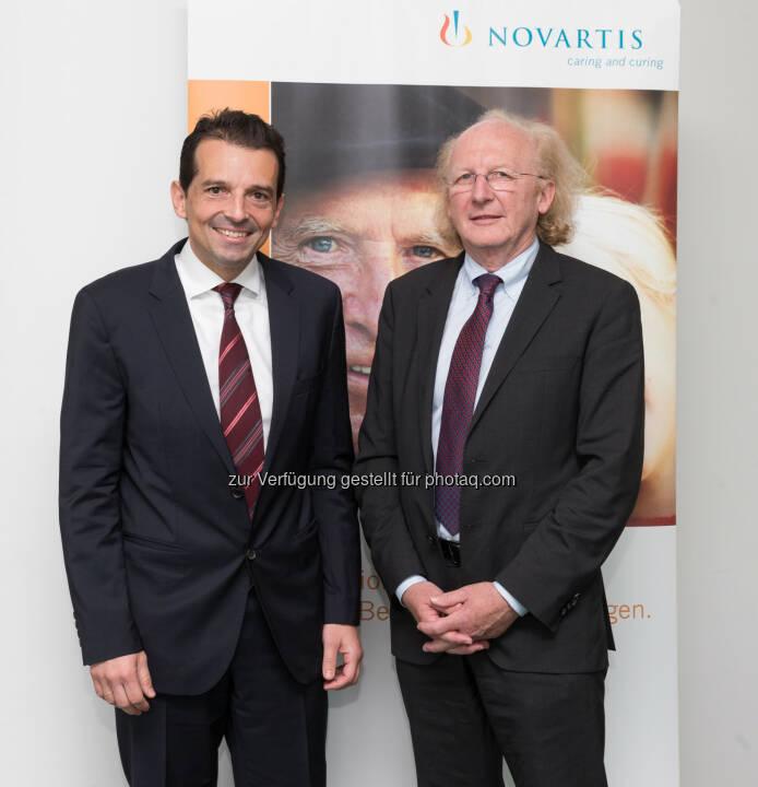 Artur Wechselberger besuchte Novartis Austria am Standort Wien und wurde von Country President George Zarkalis willkommen geheißen - Nachhaltigkeit und Integration zentral für erfolgreiche Gesundheitsreform (Bild: Jürg Christandl)